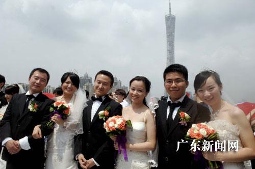 世纪佳缘集体婚礼活动在广州举行