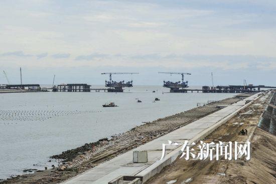 建设中的华侨试验区核心区