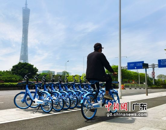 哈啰新款共享单车亮相广州