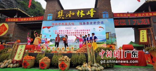 """9月22日,广东""""世界大豆加工厂""""豆品豆食湾区演艺暨国家大豆产业技术体系科技交易大会在广东清远英德九龙峰林小镇举行。"""