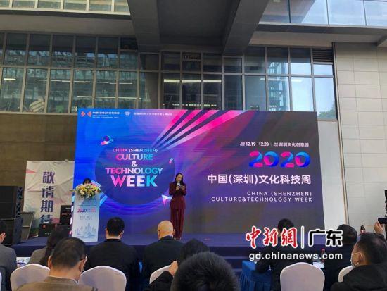 图为2020中国(深圳)文化科技周开幕现场。 朱族英 摄