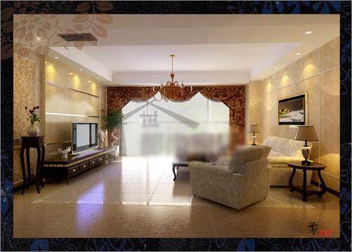 欧式客厅宫廷风格小户型