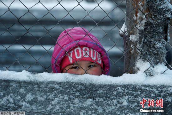 11月28日,涅涅茨人自治地区的一个小女孩。